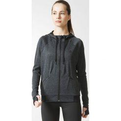 BLUZA PERF FZ HOODY A. Białe bluzy sportowe damskie marki Adidas, z bawełny, z długim rękawem, długie. Za 134,99 zł.