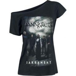 Bannkreis Sakrament Koszulka damska czarny. Czarne bluzki z odkrytymi ramionami Bannkreis, s, z nadrukiem, z dekoltem w łódkę. Za 66,90 zł.