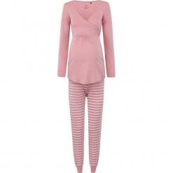 2-częściowa piżama w kolorze jasnoróżowym do karmienia. Czerwone piżamy damskie bellybutton, xs, w paski, moda ciążowa, z długim rękawem. W wyprzedaży za 217,95 zł.