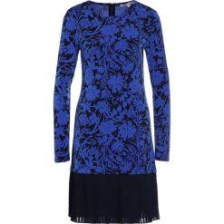 MICHAEL Michael Kors GARDN  Sukienka z dżerseju royal. Niebieskie sukienki z falbanami marki MICHAEL Michael Kors, xxs, z dżerseju. W wyprzedaży za 573,30 zł.