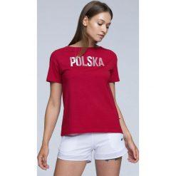 Bluzki damskie: Koszulka kibica damska TSD501 - CZERWONY