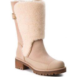 Kozaki TORY BURCH - Sloan Shearling Boot 49198 Perfect Sand/Natural 256. Brązowe buty zimowe damskie Tory Burch, z materiału, na obcasie. W wyprzedaży za 1679,00 zł.
