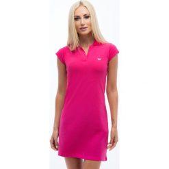 Sukienki: Amarantowa sukienka polo 4590