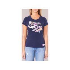 T-shirty z krótkim rękawem Superdry  STACKER INFILL ENTRY. Niebieskie t-shirty damskie Superdry, xs. Za 103,20 zł.