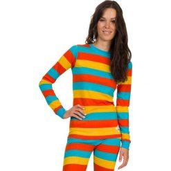 Bluzki asymetryczne: Woox Koszulka damska termoaktywna Bodyheat Ladies´ Long Sleeve Stripy żółta r. 42