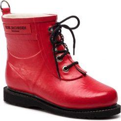 Kalosze ILSE JACOBSEN - RUB2 Deep Red 303. Brązowe buty zimowe damskie marki Alma en Pena, z materiału, na obcasie. W wyprzedaży za 409,00 zł.