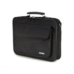 """Sumdex Continent  CC - 03BK 15""""-16"""" czarna. Czarne torby na laptopa Sumdex, w paski. Za 99,90 zł."""
