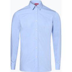 HUGO - Koszula męska łatwa w prasowaniu - Elisha01, niebieski. Niebieskie koszule męskie na spinki HUGO, m, z klasycznym kołnierzykiem. Za 329,95 zł.