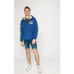 Pepe Jeans - Bluza PM581180. Szare bluzy męskie rozpinane Pepe Jeans, l, z nadrukiem, z bawełny, z kapturem. W wyprzedaży za 199,90 zł.