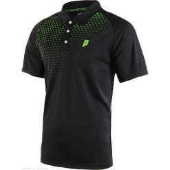 Koszulki polo: PRINCE Koszulka Męska Graphic Polo Czarno - Zielony r. XL (3M101079)