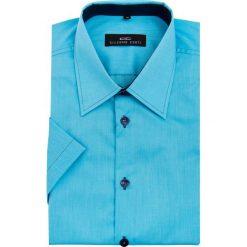 Koszula FABIO 15-01-24. Brązowe koszule męskie na spinki marki QUECHUA, m, z elastanu, z krótkim rękawem. Za 169,00 zł.