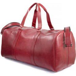 Torby na ramię męskie: CORTEZ Czerwona męska torba ze skóry Podróżna smooth leather