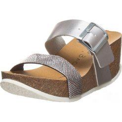 Buty damskie: Klapki w kolorze srebrnym