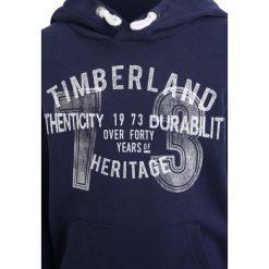 Timberland Bluza z kapturem marine. Niebieskie bluzy chłopięce rozpinane marki Timberland, z bawełny, z kapturem. Za 199,00 zł.