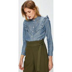 Levi's - Koszula. Brązowe koszule damskie Levi's®, l, z bawełny, casualowe, ze stójką, z długim rękawem. Za 279,90 zł.