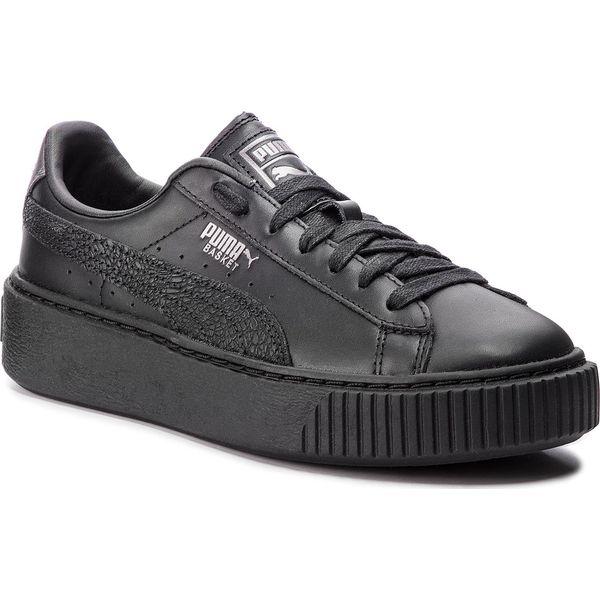 Sneakersy PUMA Basket Platform Euphoria Metal 367850 02 Puma BlackPuma Aged Silver