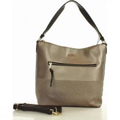 NOBO Superwygodna torba z dwoma paskami gun. Szare torebki klasyczne damskie Nobo, w paski, ze skóry. Za 159,00 zł.