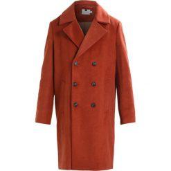 Topman OVERSIZE Płaszcz wełniany /Płaszcz klasyczny orange. Brązowe płaszcze wełniane męskie marki Topman, l, klasyczne. Za 509,00 zł.