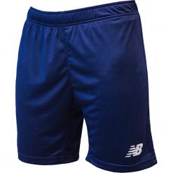 Spodenki treningowe EMS6130NV. Niebieskie spodenki sportowe męskie New Balance, m, z materiału, do piłki nożnej. Za 69,99 zł.