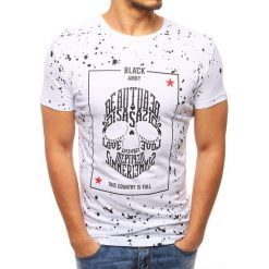 T-shirty męskie z nadrukiem: T-shirt męski z nadrukiem biały (rx2798)