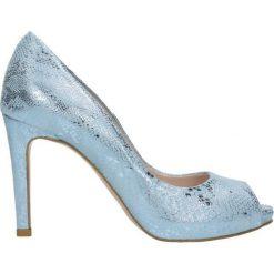 Czółenka OLIVIA. Niebieskie buty ślubne damskie Gino Rossi, ze skóry, na wysokim obcasie, na szpilce. Za 199,90 zł.
