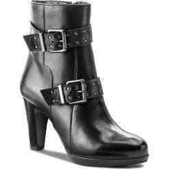 Botki TAMARIS - 1-25070-39 Black 001. Czarne buty zimowe damskie Tamaris, z polaru, na obcasie. W wyprzedaży za 249,00 zł.