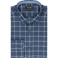 Koszula bexley f2480 długi rękaw slim fit granatowy. Niebieskie koszule męskie jeansowe marki Recman, m, button down, z długim rękawem. Za 99,99 zł.