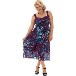 Odzież damska: Sukienka w kolorze granatowym ze wzorem