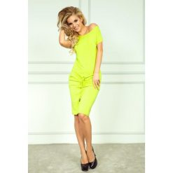 Cher Sukienka sportowa - NEON Limonka. Żółte sukienki mini numoco, sportowe, z krótkim rękawem, sportowe. Za 109,00 zł.