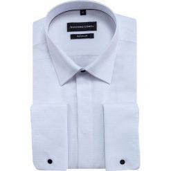 Koszula SIMONE KDBR000348. Białe koszule męskie na spinki marki Giacomo Conti, m, z bawełny, z klasycznym kołnierzykiem. Za 149,00 zł.