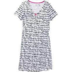 Koszula nocna bonprix biały z nadrukiem. Białe koszule nocne i halki bonprix, z nadrukiem, z satyny. Za 34,99 zł.