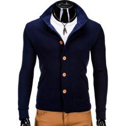 Bluzy męskie: BLUZA MĘSKA ROZPINANA BEZ KAPTURA CARMELO – GRANATOWA