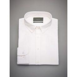 Koszule męskie na spinki: Koszula z domieszką lnu regular fit – Biały