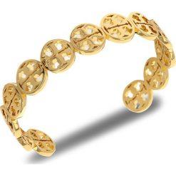 Bransoletka TORY BURCH - Logo Cuff 37317 Tory Gold 720. Żółte bransoletki męskie Tory Burch, metalowe. W wyprzedaży za 389,00 zł.