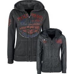 Bluzy rozpinane damskie: Rock Rebel by EMP Freaking Out Loud Bluza z kapturem rozpinana damska szary