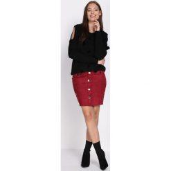 Czarny Sweter I Hope Not. Czarne swetry klasyczne damskie Born2be, na jesień, l. Za 59,99 zł.