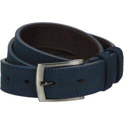 Pasek ps209 granatowy. Niebieskie paski męskie Recman, w paski, z jeansu, eleganckie. Za 79,00 zł.