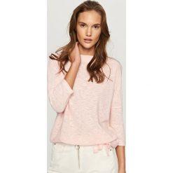 Swetry klasyczne damskie: Melanżowy sweter - Różowy