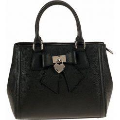 Torebki klasyczne damskie: Skórzana torebka w kolorze czarnym – 30 x 22 x 14 cm