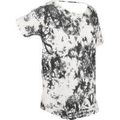 T-shirty damskie: T-shirt batikowy, krótki rękaw bonprix czarny z nadrukiem