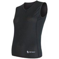 Bluzki sportowe damskie: Sensor Koszulka Coolmax Air V-Neck Black S
