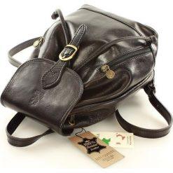 CELESTA Włoski plecak skórzany czarny. Czarne plecaki damskie MAZZINI, ze skóry, klasyczne. Za 339,00 zł.