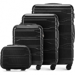 Zestaw walizek 56-3P-98K-10. Czarne walizki marki Wittchen, z gumy, duże. Za 907,68 zł.