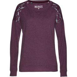 Bluzy damskie: Bluza z koronką bonprix czarny bez