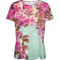 Colour Pleasure Koszulka damska CP-030 221 zielono-różowa r. XL/XXL. Czerwone bluzki damskie marki Colour pleasure, xl. Za 70,35 zł.