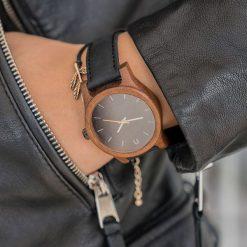 Zegarek Neat Zegarek damski amazaque drewniany czarno-szary 38mm. Czarne zegarki damskie Neat. Za 324,00 zł.