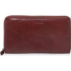 Portfele damskie: Skórzany portfel w kolorze brązowym – 19 x 11 x 2,5 cm