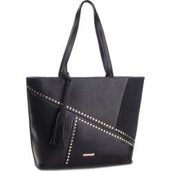 Torebka MONNARI - BAG4830-020 Black. Brązowe torebki klasyczne damskie marki Monnari, w paski, z materiału, średnie. W wyprzedaży za 199,00 zł.