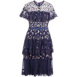 Sukienki hiszpanki: Needle & Thread TIERED ANGLAIS Sukienka koktajlowa washed indigo