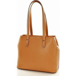 Torebki klasyczne damskie: skórzana torba na ramię BONITA camel